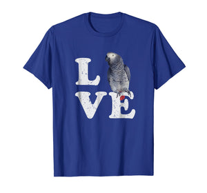 I Love My African Grey Parrot T-Shirt | Bird Lovers Gift