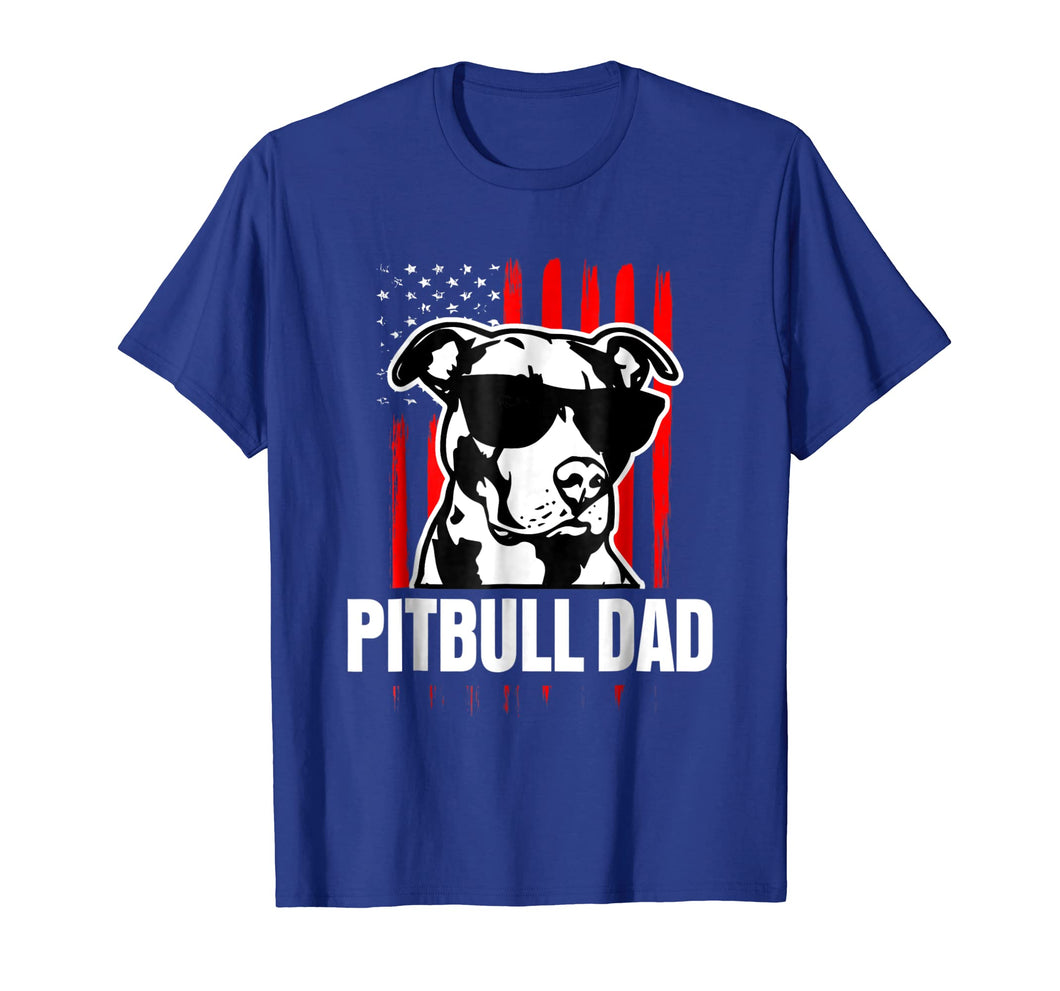 Mens Proud Pitbull Dad Mens T-shirt American Pit Bull Dog shirt