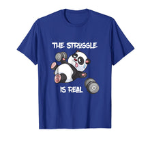 Afbeelding in Gallery-weergave laden, The Struggle is Real Panda Bear Funny T-Shirt Cute Gym Tee