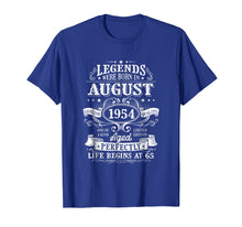 Afbeelding in Gallery-weergave laden, Legends Were Born In August 1954, 65th Birthday shirts