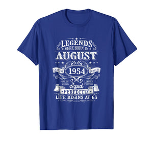 Legends Were Born In August 1954, 65th Birthday shirts