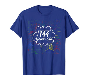 Square Root Of 144 12th Birthday 12 Years Old Math Shirt