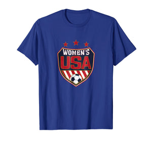 Soccer T-Shirt for Women and Girls with USA Shield