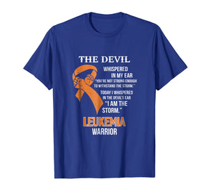 I Am The Storm Support Leukemia Awareness Warrior Gift Shirt