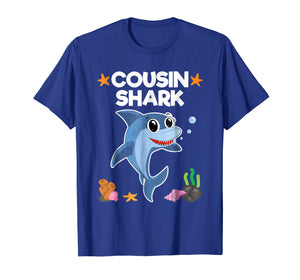 Cousin Shark Shirt Sister Brother Baby Shark Birthday Gift
