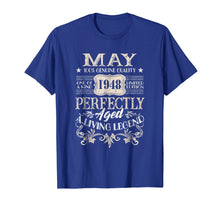 Afbeelding in Gallery-weergave laden, May 1948 T-Shirt Retro Vintage 71st Birthday Decoration