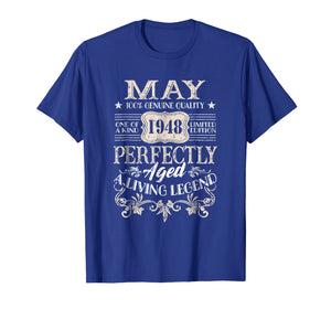 May 1948 T-Shirt Retro Vintage 71st Birthday Decoration