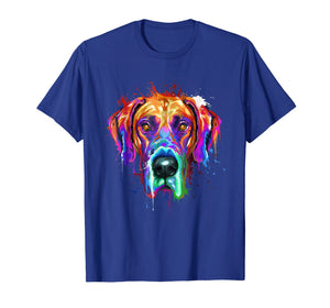 Splash Art Great Dane T-Shirt | Dane Puppy Lover Gifts