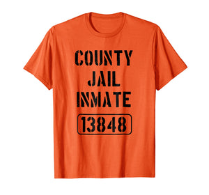 Youth Prison Costume Shirt | County Jail Inmate Teeshirt
