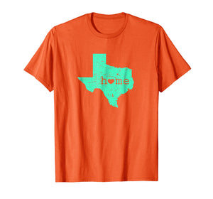 Texas Home Is Where the Heart Is Distressed Map T Shirt