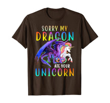 Afbeelding in Gallery-weergave laden, Sorry My Dragon Ate Your Unicorn Shirt Funny Gift for Girls T-Shirt