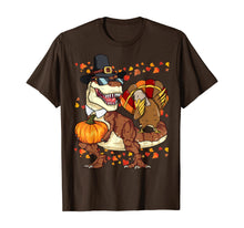Afbeelding in Gallery-weergave laden, Thanksgiving T-Rex Dinosaur Shirt Dabbing Turkey Shirt Boy T-Shirt