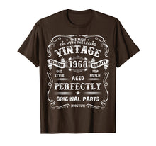 Afbeelding in Gallery-weergave laden, Mens 51th Birthday T-Shirt Legend Vintage 1968 Original Parts Tee