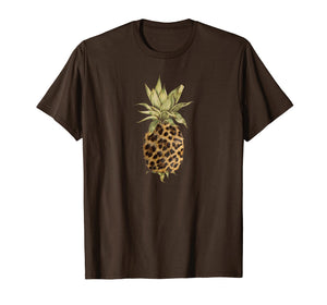 Leopard Print Pineapple Womens Gift T Shirt