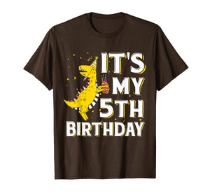It's My 5th Birthday Shirt Dinosaur Party for 5 year old boy
