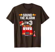 Afbeelding in Gallery-weergave laden, Birthday Boy Shirt for 3 Year Old - 3rd Sound the Alarm