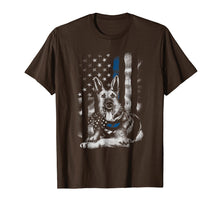 Afbeelding in Gallery-weergave laden, Blue Line K9 American USA Flag German Shepherd Police Shirt