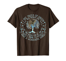 Afbeelding in Gallery-weergave laden, And I Think To Myself What A Wonderful World T-shirt, Hippie