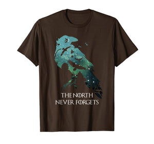Night Crow Raven The North never Forgets T-shirt Gift