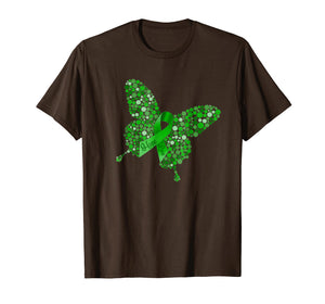 Mental Health Awareness Butterfly Ribbon Hope Love T-Shirt