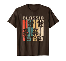 Afbeelding in Gallery-weergave laden, 1969 Classic Rock Retro 50th Birthday Gift T-Shirt Guitar
