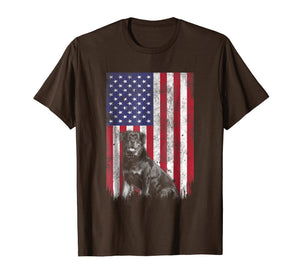 Patriotic American flag Rottweiler 4th of july T-Shirt
