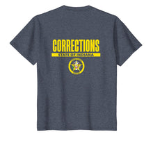 Afbeelding in Gallery-weergave laden, Indiana Correctional Officer Thin Gray Line Flag T-Shirt