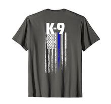 Afbeelding in Gallery-weergave laden, K-9 Police Officer USA Flag T-Shirt LEO Cops Law Enforcement