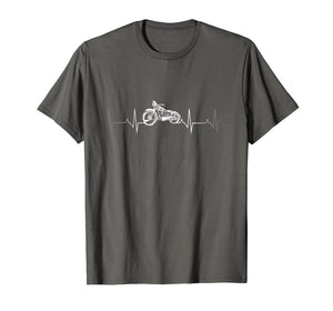 Motorcycle Heartbeat T-Shirt - I love my Motorcycle.