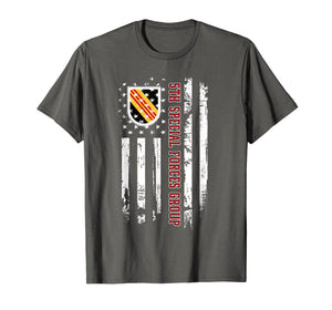 5th Special Forces Group American Flag Tshirt