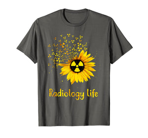 Sunflower radiology life t-shirt