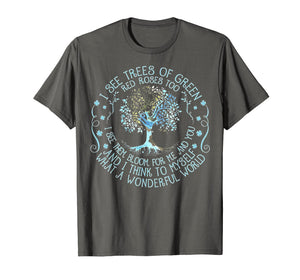 And I Think To Myself What A Wonderful World T-shirt, Hippie