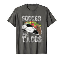 Afbeelding in Gallery-weergave laden, Soccer and Tacos Funny Taco Distressed T-Shirt Taco Gift