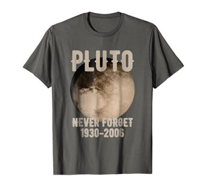Vintage Never Forget Pluto Funny Space Graphic T-Shirt