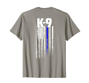 K-9 Police Officer USA Flag T-Shirt LEO Cops Law Enforcement
