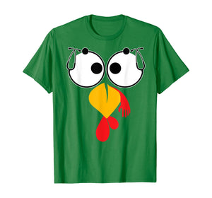 Stethoscope Turkey Face Nurse Thanksgiving Funny Nurse Gifts T-Shirt