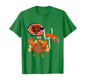 Thanksgiving Turkey Goal Posts Football Chicago-Bear T-Shirt