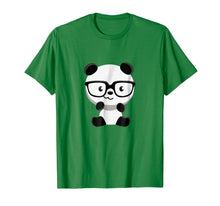 Afbeelding in Gallery-weergave laden, Cute Little Bear Panda Nerd With Glasses T-Shirt