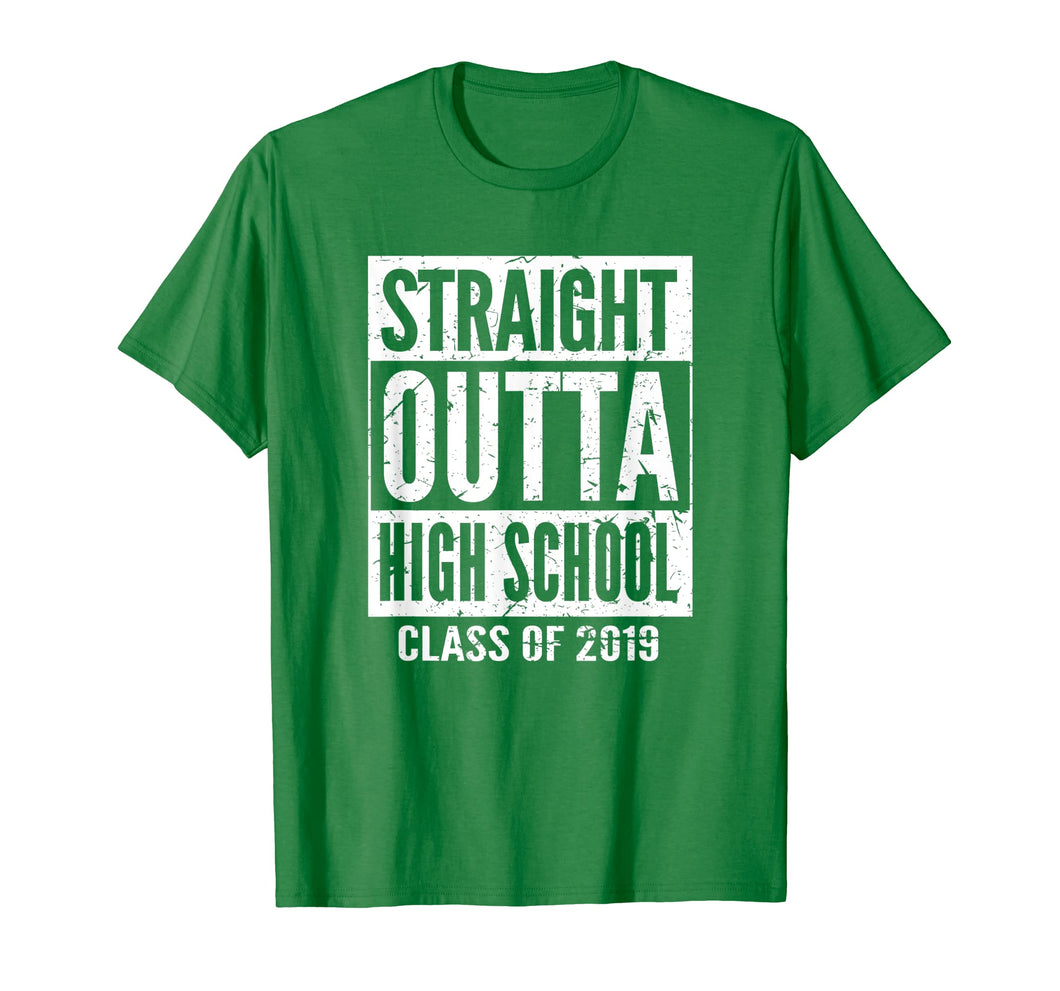 Straight Outta High School T-Shirt 2019 Graduation Shirt