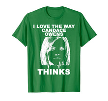 Afbeelding in Gallery-weergave laden, I Love The Way Candace Owens Thinks shirt Drawing TShirt