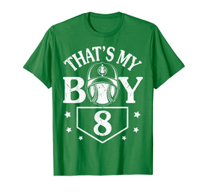 That's My Boy Number 8 Player Fan Love Vintage Retro Shirt