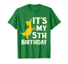 Afbeelding in Gallery-weergave laden, It's My 5th Birthday Shirt Dinosaur Party for 5 year old boy
