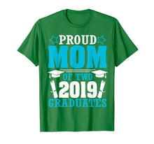 Afbeelding in Gallery-weergave laden, Star Proud Mom Of Two 2019 Graduates Happy Day Senior Shirt