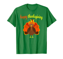 Afbeelding in Gallery-weergave laden, Thanksgiving Turkey Happy Thanksgiving Funny Holiday Print T-Shirt