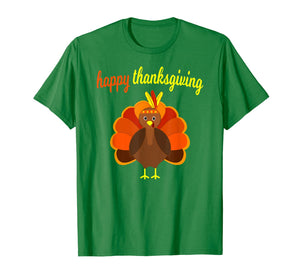 Thanksgiving Turkey Happy Thanksgiving Funny Holiday Print T-Shirt
