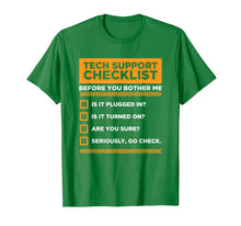 Afbeelding in Gallery-weergave laden, Tech Support Checklist Funny Computer Nerd Sysadmin T-Shirt