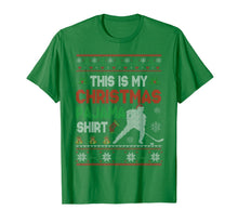 Afbeelding in Gallery-weergave laden, This Is My Christmas Pajama Shirt Funny Hockey Sweater Gift T-Shirt