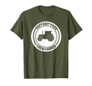 Support Your Local Farmers T-Shirt I Farming Greens Go Vegan