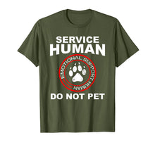 Afbeelding in Gallery-weergave laden, Service Human Tshirt Funny Dog Owner Emotional Support Human