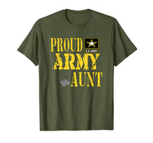 Afbeelding in Gallery-weergave laden, Proud Army Aunt Shirt Military Pride T Shirt